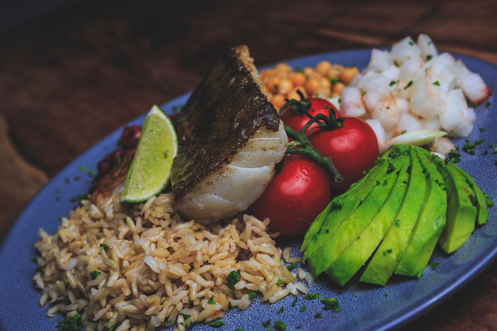 lean kitchen platter w/ cod